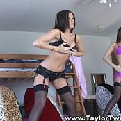 Taylor Twins Pink & Black Lingerie Babes Video