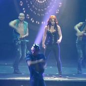 Britney Spears Medley Hot Yoga Spandex Red Hair Live HD Video