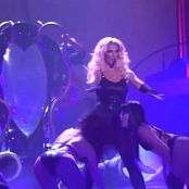 Britney Spears Slave 4 U Live Black Skin Tight Catsuit HD Video