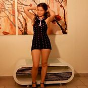 Emily18 Polka Dot Dress Striptease HD Video