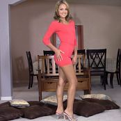 Jaclynn Marie Red Satin Dress HD Video