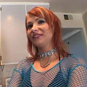 Katja Kassin Blue Fishnets Anal Prep BTS Video