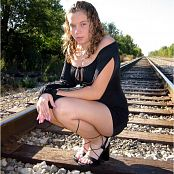 MeganQT Black Dress Railroad Track Picture Set 008