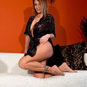 Nikki Sims Black Sheer Robe Picture Set