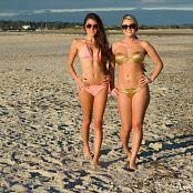 Sherri Chanel & Brittany Marie Beach Walk Picture Set