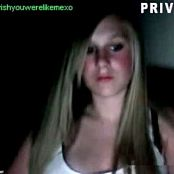 Sexy Blonde With Great Tits Masturbating Private Camshow Video