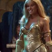 Lucy Lawless Xena Shiny Golden Dress Catwalk Video