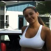 Christina Lucci Super Cute Teen Dancing Infront of Car Video