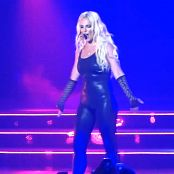Britney Spears Epic Shiny Black Catsuit Vegas 2014 HD Video