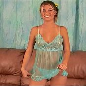 Halee Model Sheer Blue Nighty Dancing Shoot Video