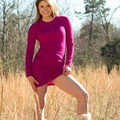 Sherri Chanel Pink Dress On Field Bonus Picture Set