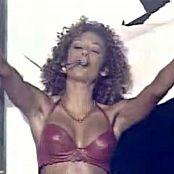 Melanie B Live Sexy Red Leather Bra Video