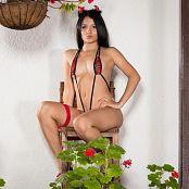 Clarina Ospina Tartan Slingshot Bikini Picture Set