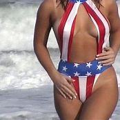 Stunning Girl American Bikini Beach Shoot Video