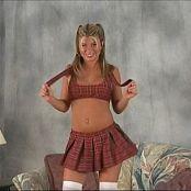 Halee Model Red Schoolgirl Outfit Dance Video