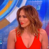 Jennifer Lopez Sexy Cleavage At The View HD Video