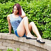 Nikki Sims Tank And Shorts Picture Set