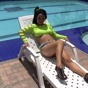 Valeria Lopera Catching Some Rays TeenBeautyFitness HD Video