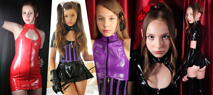 Various Young Models In Shiny Latex Outfits Picture Sets Megapack