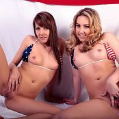 Andi Land & Sarah Peachez Happy 4th July 2016 Picture Set & HD Video