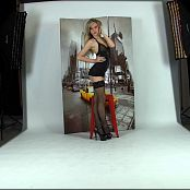 Cali Skye Black Fishnet Dress Striptease HD Video