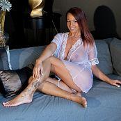 Nikki Sims White Sheer Robe Picture Set
