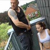 Cute Young Girl Drinks Old Mans Piss On Balcony HD Video