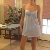Cute Wifey Teasing Her Husband In Baby Blue Dress Video