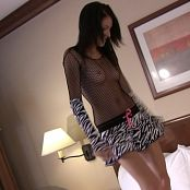 Fuckable Lola Fishnet & Zebra Dress Striptease HD Video