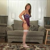Halee Model Purple Nighty With White Stockings Video