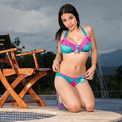 Pamela Martinez Evening At The Poolside TBF 636 Picture Set
