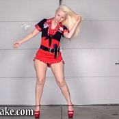 Sexy Pattycake Red Dress Striptease Show Video