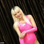 Young Gusel Shiny Pink Leotard HD Video