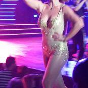 Britney Spears Golden Sparking Bodysuit POM HD Video
