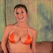 Halee Model Sexy Orange Bikini Dance Show Video