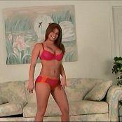 Halee Model Pink And Orange Underwear Video