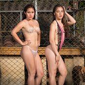 Angie Narango & Daniela Florez Chain Link Beauties Bonus LVL 2 Picture Set 026
