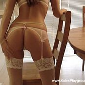 Katesplayground Yellow Lingerie Kitchen Strip Video