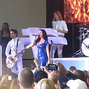 Katy Perry Blue Latex Dress Obama Rally Milwaukee HD Video