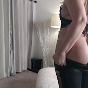 Sarah Peachez Showing Off In Black Leather 2016/11/05 Camshow Video