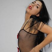 Angela Model Fishnet Striptease HD Video 47
