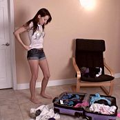 Andi Land Trying On Clothes HD Video
