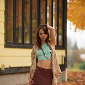 Ariel Rebel Playing In Leaves Part 1 Picture Set