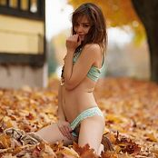 Ariel Rebel Playing In Leaves Part 2 Picture Set