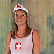 Halee Model Sexy Sheer Nurse Outfit Dance Tease Video