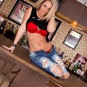 Nikki Sims Shredded Jeans Picture Set