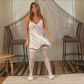 Halee Model White Lace Dress Dance Video