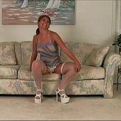 Halee Model White Stockings Dance Tease Video
