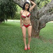 Pretty Pamela Red & Black Bikini Dance Tease 4K UHD Video 10