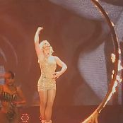 Britney SPears Sparking Gold Dress Circus POM Live 2015 HD Video